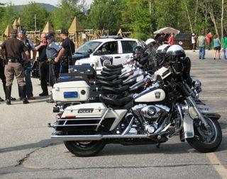 Cop Bikes Row