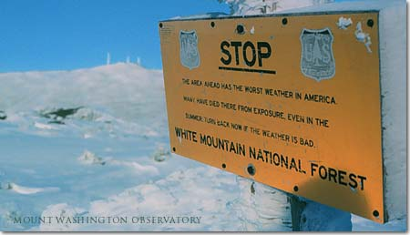 MT Washinton sign