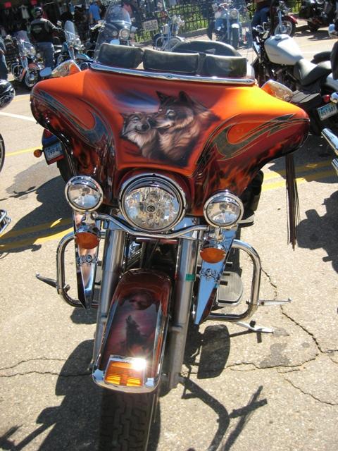 Hot fiery bike