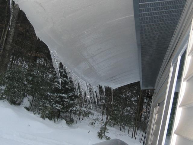 Ice overhang