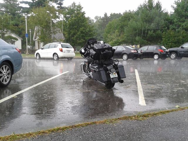 Bike at NH rest area - from cape