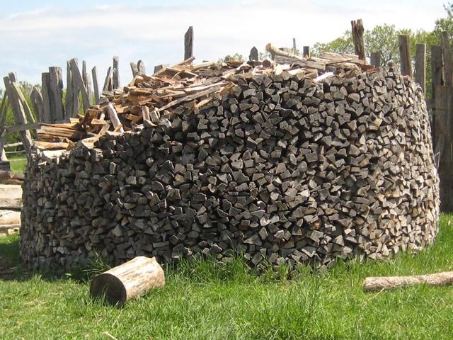 Plantation wood stack