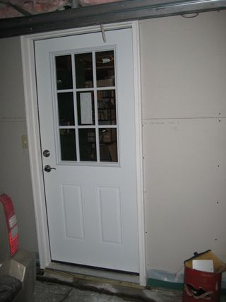 Downstairs door outside