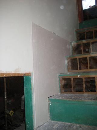 Stairwall Sheetrock