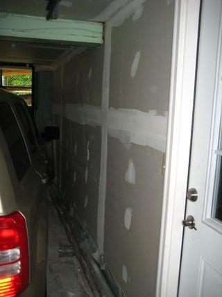 Garage ceiling sheetrock