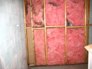 Gym Heater Wall Old Insulation