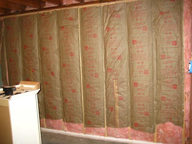 Gym Foundation Wall Batting Insulation2