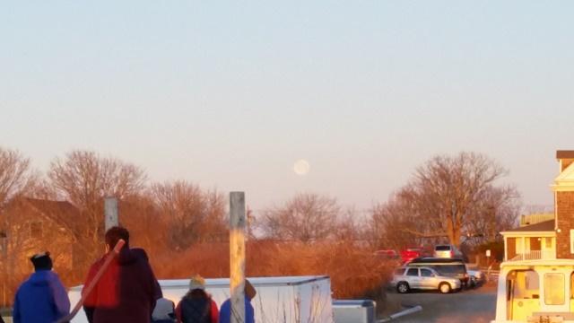 Sunrise service - full moon
