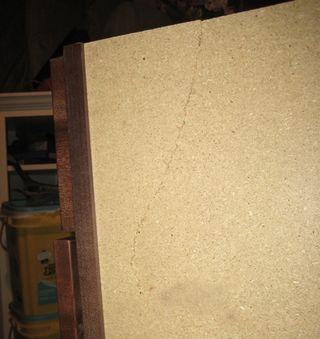 Cabinet Crack Outside