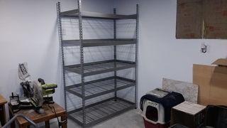 New shelves bare