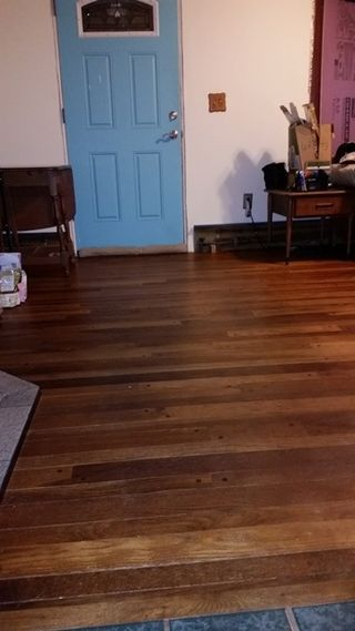 Living rooom floor after oil-turned