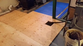 Basement floor w plywood-trnd