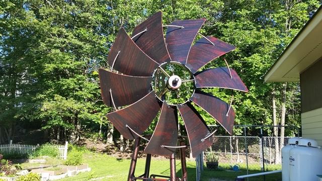 Windmill blades close up