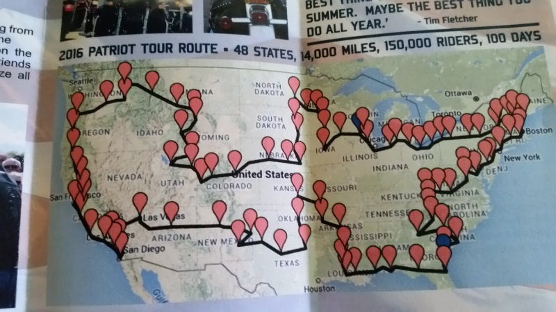Patriot Flag Tour pg map