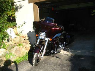 Bike in garage side