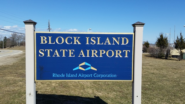 Block island Airport sign