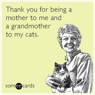 Thanks for being a mother