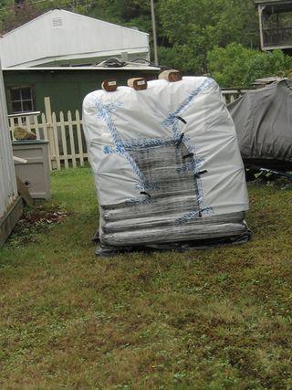 2 tons pellets - end shot