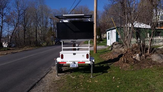 Traffic sign in yard