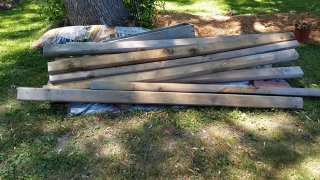 Landscape timbers from neighbor
