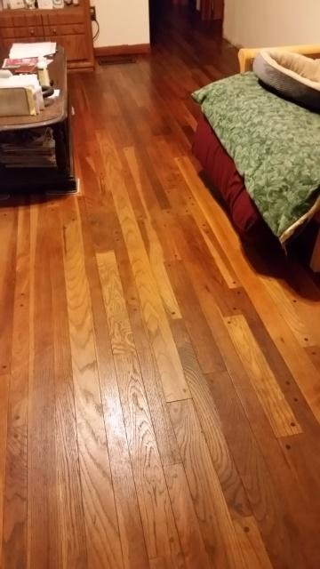 Oiled floor living room-turned