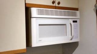 Old white microwave