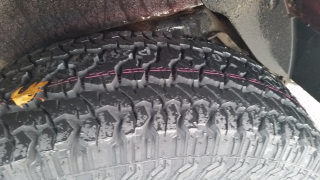 Kuhmo tire tread on Explorer