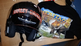 Helmet and shirt from Heritage Harley davidson