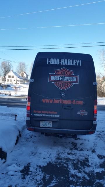 Heritage van pulling out