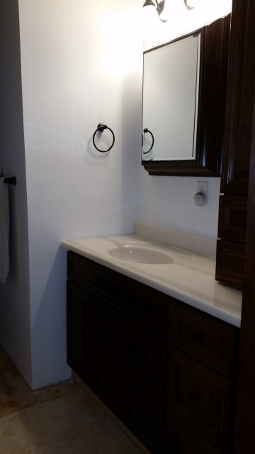 Bathroom counter from door-trnd
