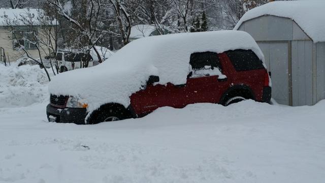 Truck snowed in