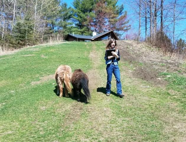 Me with mini horses
