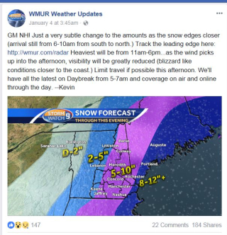 Chanel 9 forecast updated morn 1-4-18