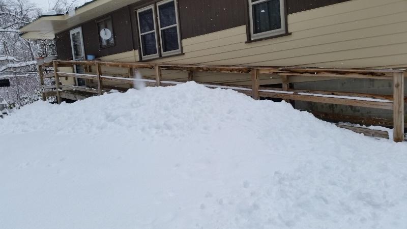 Ramp snow pile 2