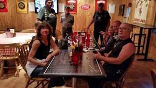 Vernon Enos and Crew at barbque dinner-sm