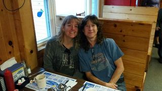 Jessica and me at diner