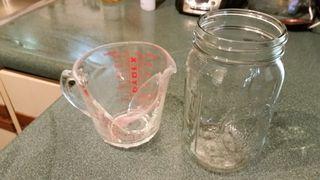 Pyrex measuring cup versus ball canning jar