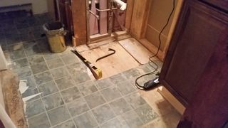 Bath floor just after starting