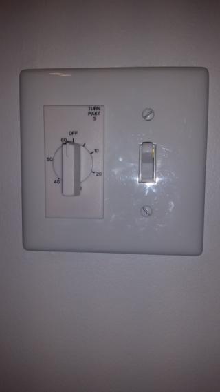 Fan timer switch - turned