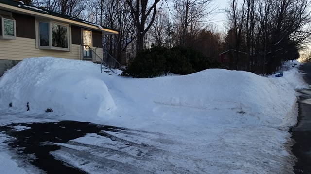 Front of house snow bank 2-14-17