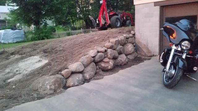 Rough rock wall