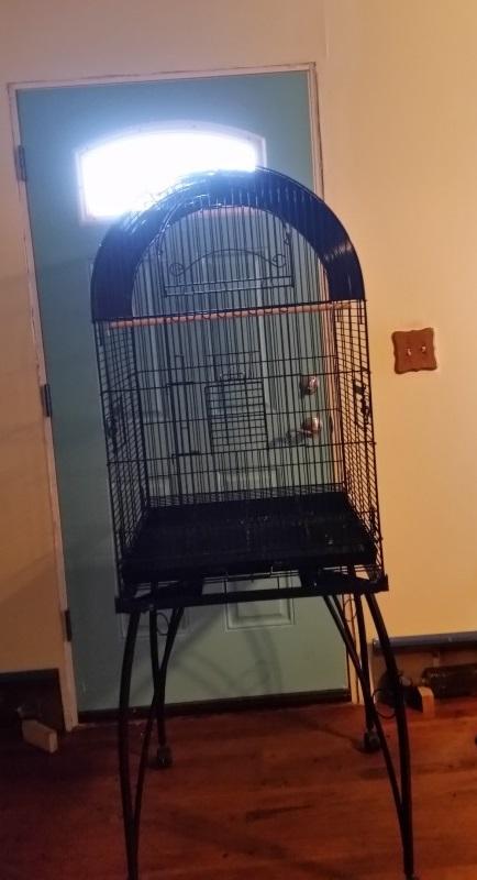 Ziva big cage front of door-trnd