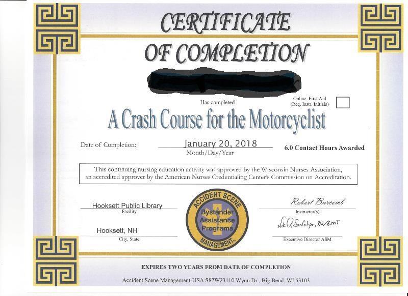 Accident Scene Management Certificate-blurred