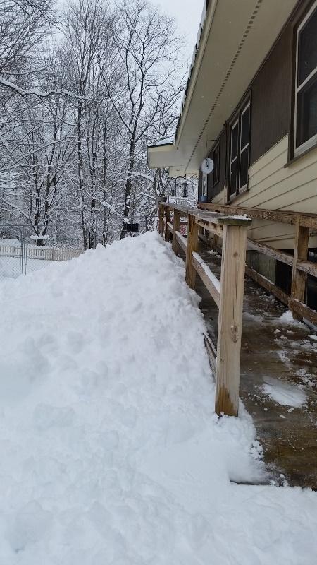 Ramp snow pile 1