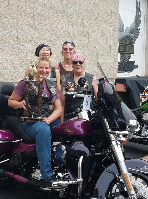 4 ladies at Heels and Wheels
