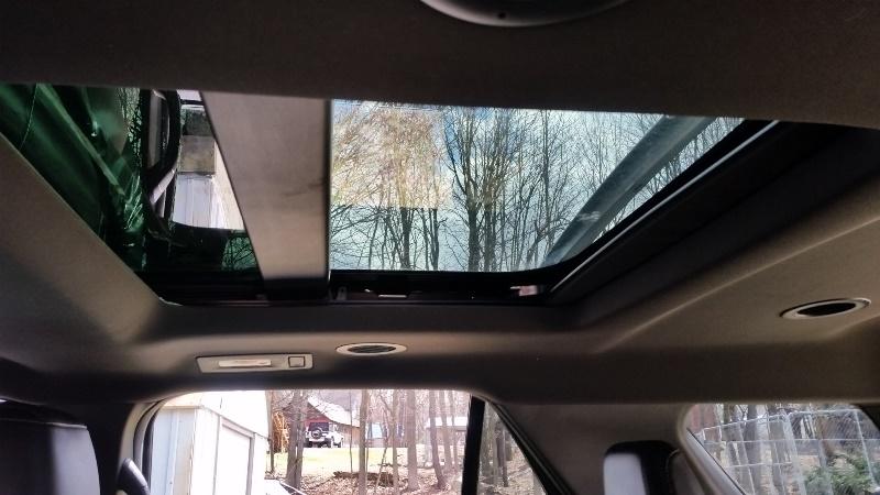 Back seat sunroof