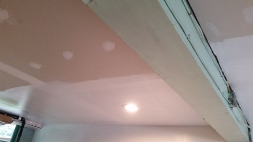 1-3rd of ceiling painted