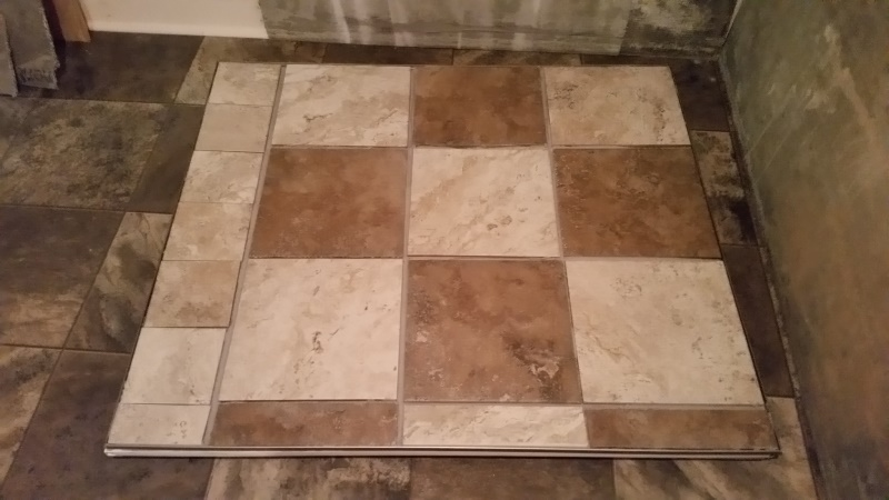 Tile laid - no grout