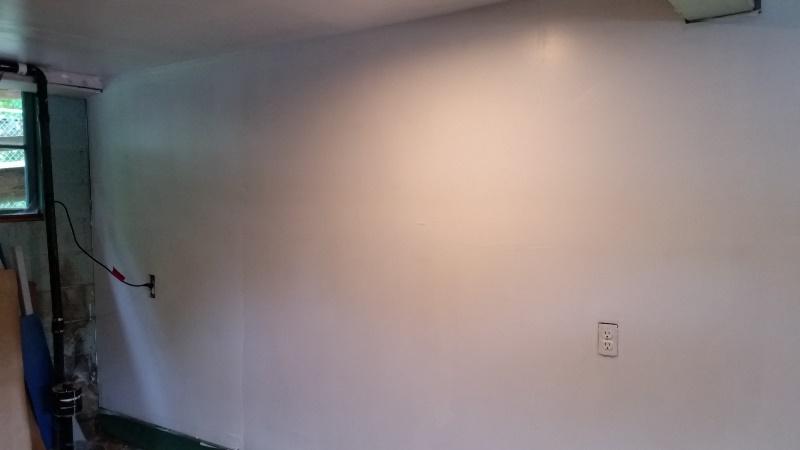 Painted wall toward back