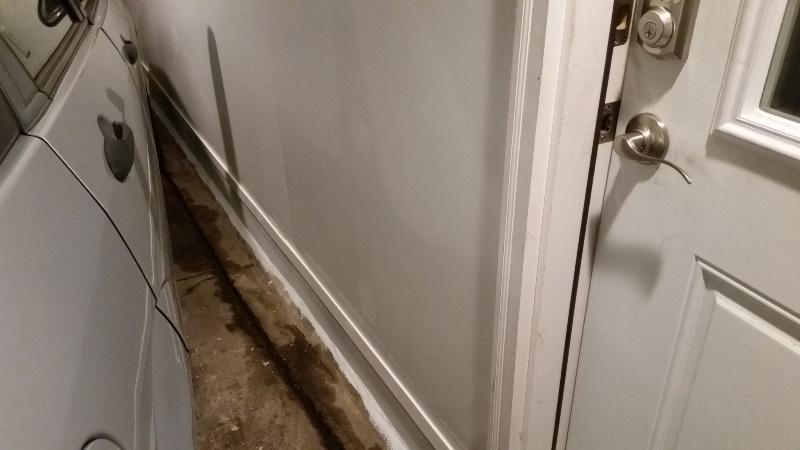 Trim cover piece garage wall-long distance